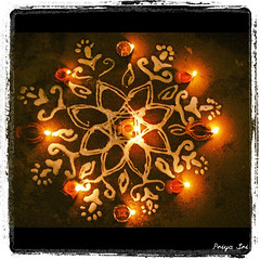 Kolam (Indian Rangoli) (sri.priya_sri) Tags: india art handicraft handmade culture tradition kolam rangoli indianculture indiantradition