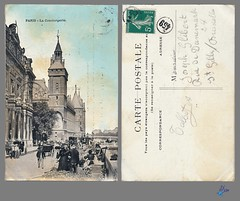 PARIS - La Conciergerie (bDom) Tags: paris 1900 oldpostcard cartepostale bdom
