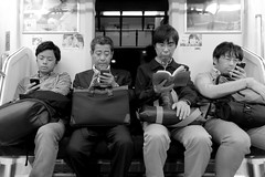 The Four Stooges (photo-ing) Tags: street bw japan train tokyo crossing shibuya streetphotography shibuyacrossing tokio