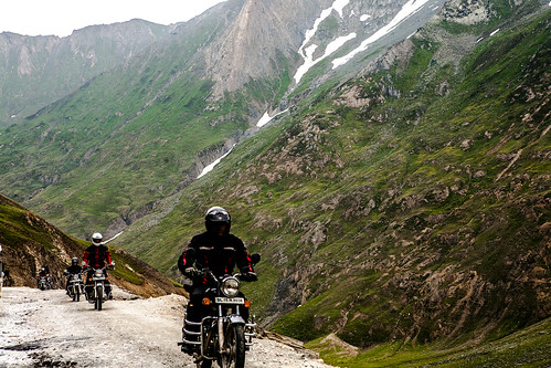 Bikers at Zoji la, Kashmir, India
