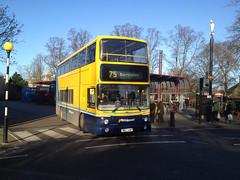 WHIPPET X57XAW CAMBRIDGE 101214 (David Beardmore) Tags: volvo alexander doubledeckerbus dublinbus alx400 b7tl lowfloorbus busathacliath whippetcoaches whippetofswavesey 00d70104 x57xaw