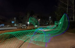 Light Wave (rudolphfelix) Tags: street blue light green night canon painting eos licht long exposure nacht wave nightlife langzeitbelichtung malerei 600d mössingen lightpanting