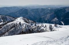 At the summit of Mt. Bunagatake, Shiga /  (Kaoru Honda) Tags: winter white mountain snow nature japan trekking landscape japanese nikon outdoor hiking mountainclimbing mountaineering       shiga  mountaintrail hira         bunagatake d7000