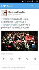Siamo a Serrenti! Seguite la diretta twitter, mentre più tardi troverete altri aggiornamenti su Facebook! #ripartiamo