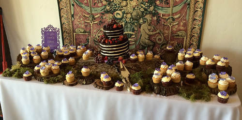 """Wedding Cake table with a wedding cake and cupcakes • <a style=""""font-size:0.8em;"""" href=""""http://www.flickr.com/photos/50891271@N03/16346251462/"""" target=""""_blank"""">View on Flickr</a>"""