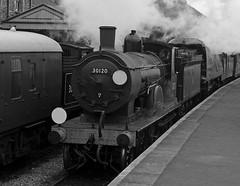SwR 27008bwcr (kgvuk) Tags: station trains railwaystation locomotive corfe railways 440 steamtrain m7 corfecastle steamlocomotive manston t9 462 battleofbritainclass swanagerailway 30120 30053 044t corfecastlestation 34070 lswrgreyhound