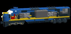 C&EI E7 Mechanics WIP (wildchicken_13) Tags: chicago illinois lego diesel engine wip locomotive eastern e7 cei moc ldd emd e7a wildchicken13