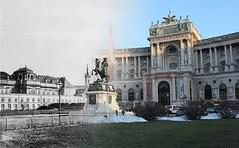 Neue Burg - Heldenplatz (afri86) Tags: vienna wien austria hofburg vorher heldenplatz nachher neueburg zeitensprnge