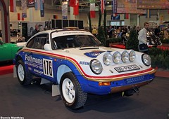 Rally Porsche (Schwanzus_Longus) Tags: red paris sports car museum modern race essen stuttgart rally 911 super safari german porsche vehicle dakar expensive motorshow racer 959 953 parisdakar excluisve