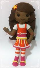 Laranjinha / Orange Blossom (Jardim Secreto - Danny) Tags: doll felt feltro boneca strawberryshortcake orangeblossom moranguinho laranjinha turmadamoranguinho