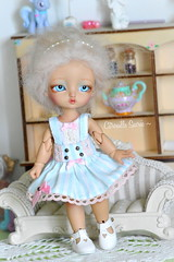 Pastel Girl (Citrouille Sucre) Tags: cute fashion miniature doll handmade pastel sewing craft lolita tiny kawaii bjd luts handmadeclothes dollclothes latiyellow tinydoll bjdfashion bjdclothes pastelfashion pukifee tinydelf
