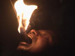 Fire Eater in Action Kandy Sri Lanka
