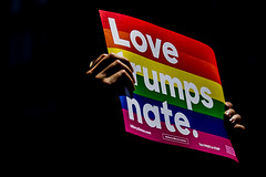 Love Trumps Hate! (MarkL87) Tags: nyc newyorkcity love manhattan parade gayprideparade marchers