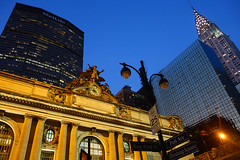 Grand Central Station, NYC (Cagsawa) Tags: city nyc ny newyork square dusk central 42ndst grand trainstation parkave citylights grandcentralstation metropolis nightscene chrysler gotham metlife grandcentral pershingsquare pershing 42nd parkavenue 42ndstreet rx100