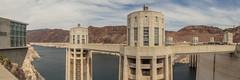 Hoover Dam (Anthony's Olympus Adventures) Tags: lasvegas nevada usa america arizona hooverdam dam spillway lakemead coloradoriver watertower powerplant hydroelectric icon marvel attraction sights panorama flickraward geotagged olympus wow
