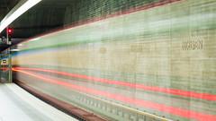 Light traces (d90fz8) Tags: nuernberg nuremberg ubahn underground station ziegelstein traffic verkehr transport transportation subway metro motion bewegung traces leuchtspuren