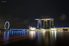 View from Jubilee Bridge (Ming_Young) Tags: jubileebridge cityscape nightscape skyline marinabay singapore