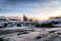 Not so cluttered (FerGarciaPhoto) Tags: commons d750 iceland landscape longexposure nature nikon outdoor park reykjavk river sky snow sunset tamron travel tree waterfall winter