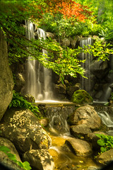 Waterfall Anderson Japanese Garden (leeandtacky ( I'm back online)) Tags: nature garden waterfall illinois sony
