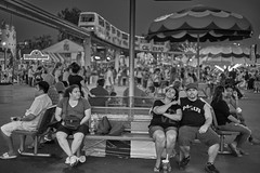 The Midway (Mr_Flugel) Tags: california people blackandwhite bw mono statefair