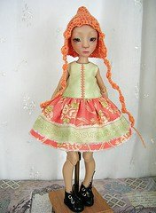 Nefer Kane Mitsouko, 30 cm, in Apricot and Green (ulladesigns) Tags: outfit kane mitsouko nefer ulladesigns