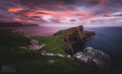 Neist Point (kris greenwell) Tags: isleofskye cliffs clouds coast coastal d7100 dramatic grass krisgreenwell krisgreenwellphotography landscape lighthouse meadow motion neistpoint nikon pathway rocks scotland sea seascape sigma sky sunset travel uk wideangle ~themagicofcolours~iv