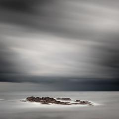 Thunderstorm is Coming (panfot_O (Bernd Walz)) Tags: longexposure sea seascape storm color water clouds coast movement rocks wind fineart balticsea shore colorized thunderstorm bornholm waterscape