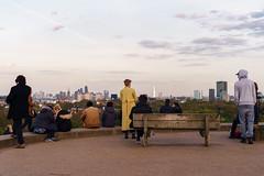 Watchers waiting for sundown, Primrose Hill, London (andyc246) Tags: street people london silhouette landscape twilight waiting quiet dusk watching scenic serene primrosehill shard urbanlandscape londonskyline yellowcoat legacylens sonya7ii