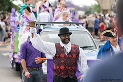 Guest Town Crier - Jacaranda Parade 2015 (sbyrnedotcom) Tags: 2015 people events grafton jacaranda parade rural town red vest bell towncrier nsw australia