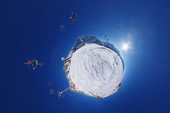 La Chaux Express (gadl) Tags: panorama 360 switzerland suisse snow neige verbier stereographicprojection weeplanet planet