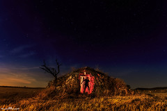 No molesten!!! (Jorge Lzaro Fotografa) Tags: lightpainting luz azul luces noche sombra paisaje ruina estrellas nocturna campo silueta choza linterna pedraseca cabaadevolta