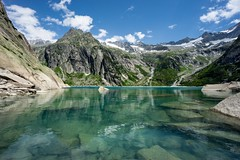 At the Gelmersee on a nice summer day. (Werner_B) Tags: gelmersee grimsel switzerland schweiz lake mountainlake alps hiking nature landscape