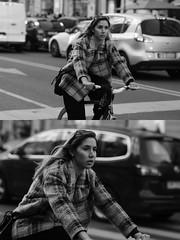 [La Mia Citt][Pedala] (Urca) Tags: milano italia 2016 bicicletta pedalare ciclista ritrattostradale portrait dittico nikondigitale mir bike bicycle biancoenero blackandwhite bn bw 872111