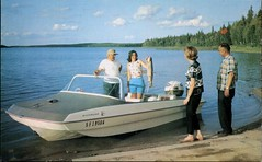 The Big One, Childs Lake, Manitoba (SwellMap) Tags: postcard vintage retro pc chrome 50s 60s sixties fifties roadside midcentury populuxe atomicage nostalgia americana kitsch animal animals wildlife pose posing fish fishing hunting