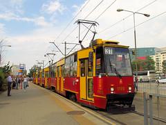 Konstal 105Na, #1122+1123+1195, Tramwaje Warszawskie (transport131) Tags: tram tramwaj konstal 105n tw ztm warszawa warsaw 105na