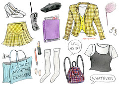 Ugh as if - Cindy Mangomini (Cindy Mangomini) Tags: illustratedhowto illustration handdrawn drawing watercolor watercolour pen ink gouache fashiondrawing fashionillustration cindymangomini mangomini dutch productillustration clueless cluelesshalloweencostume halloweencostume cherhorowitz aliciasiverstone 90s 90smovies 90sstyle 90sfashion ughasif whatever