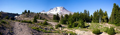 Mt Hood Panorama (Diacritical) Tags: cue oregon portland july252016 leicacameraag leicamtyp240 summiluxm11435asph f95 ¹⁄₁₂₅sec centerweightedaverage ¹⁄₁₂₅secatf95 0ev 35 iso200 mountain panorama mthood snow