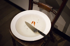 (Kate Farquharson) Tags: museumofoldandnewart mona tasmania canon5dmarkiii janniskounellis contemporaryart goldfish knives