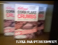 Still on the shelf (Dying In Downey) Tags: kelloggs corn flakes crumbs cornflakes michael poulin old packaging