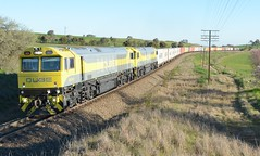 QBX001 & QBX005 (rob3802) Tags: qbxclass qbx001 qbx005 qube qubelogistics nsw junee harefield railway rail containertrain locomotive loco diesel diesellocomotive dieselelectriclocomotive