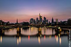 Frankfurt am Main Skyline (Marc Wildenhof) Tags: frankfurtammain hessen deutschland de skyline sonnenuntergang wolkenkratzer germany langzeitbelichtung