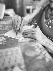 Demain c'est loin. (Anasnap136) Tags: veuve ciotadenne belle loin demain criture crire mains noiretblanc vieillesse ge femme anctre an grandmere 95ans