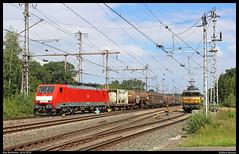 DBC 189 080+UC 45746 te Bad Bentheim (Allard Bezoen) Tags: trein train zug lok elok loc eloc locomotief locomotive lokomotieve siemens es64f4 eurosprinter br baureihe 189 080 db dbs dbc cargo deutsche bahn uc unit 45746 hagen vorhalle kijfhoek zuid bad bentheim bahnhof station