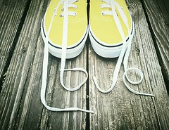 LOVE, (K.Chris ~AlwaYs LeaRning~) Tags: shoes shoestrings yellow heart love emotions