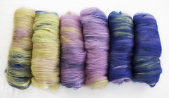Yello, Lilac, Blue (chavala) Tags: spinning fiber knitting batts batts2016 merino ashlandbay