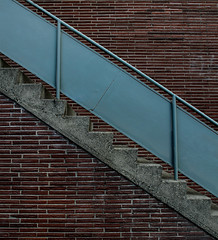 angle (dotintime) Tags: angle diagonal slant cross dissect brick metal concrete cement wall stair stairway climb ascend descend up down railing handrail dotintime meganlane