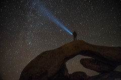 Lighting up the sky (Julee Ung Photography) Tags: joshuatree nightshot california nationalpark stargazing stars archrock