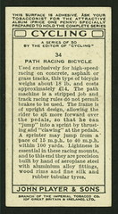 Cigarette Card Cycling Collection 1939 (Richard Masoner / Cyclelicious) Tags: cigarettecard trading tradingcard collectible tbt history 1939 trackbike pathracer fixie fixedgear