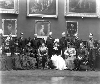 Hat trick  -  Royal visitors in the Picture Gallery, Kilkenny Castle