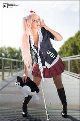 Junko - Giulia (Roberto Donadello) Tags: junko giulia cosplay anime manga cosplayer girl color pink rosa colori set udine udin persone profondit di campo